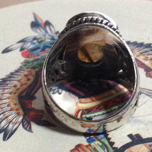 ラブラドライトの透かしリングです レディースのアクセサリー(リング(指輪))の商品写真
