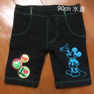 ディズニー(Disney)の美品 ディズニー ミッキーの水着 90㎝ バックプリントあり(水着)