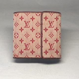 ルイヴィトン(LOUIS VUITTON)のヴィトン   三つ折り 財布 モノグラムミニ  正規品(財布)