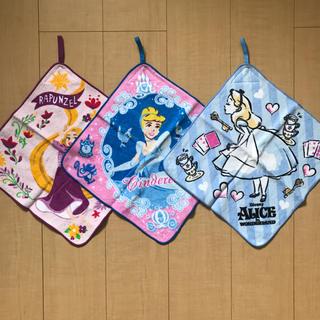 ディズニー(Disney)のディズニー プリンセスシリーズ タオル 3枚セット(タオル)