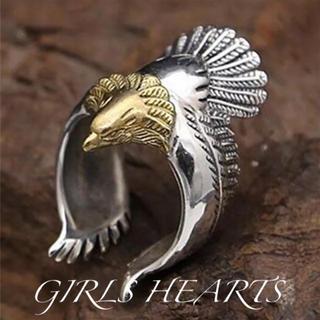 送料無料28号クロムシルバーゴールドイーグルリング指輪クロムハーツゴローズ好きに(リング(指輪))