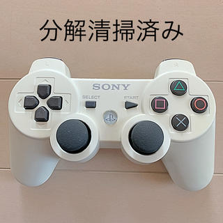 プレイステーション3(PlayStation3)の分解清掃済 SONY PS3 純正 コントローラー DUALSHOCK3 白(家庭用ゲーム本体)