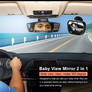 ②つ車 クリップ スマホ 携帯 スタンド ホルダー 360° 回転 ベビーミラー(車内アクセサリ)