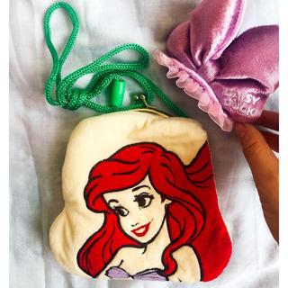 ディズニー(Disney)のアリエルのポシェット & リボンのヘアピン セット(ヘアアクセサリー)