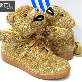 アディダス(adidas)のジェレミースコット アディダス ゴールド ベアー シューズ(スニーカー)