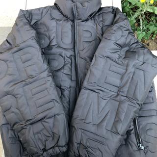 シュプリーム(Supreme)の✨ 黒M Bonded Logo Puffy Jacket(ダウンジャケット)