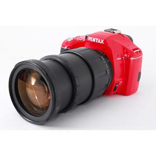 PENTAX - Pentax K-x レッド 高倍率レンズセット★レンズフード付き