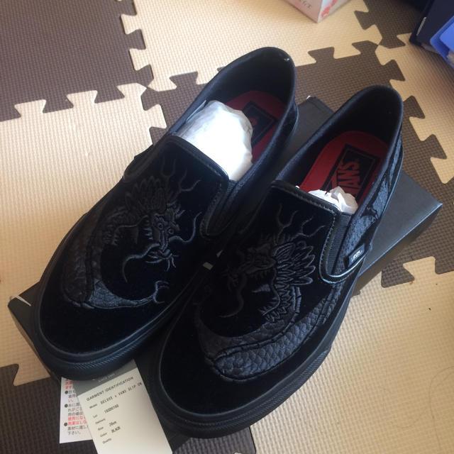 DELUXE(デラックス)の完売 DELUXE x VANS SLIP ON  28.0cm 刺繍  コラボ メンズの靴/シューズ(スリッポン/モカシン)の商品写真