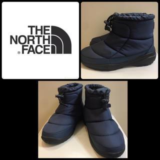 ザノースフェイス(THE NORTH FACE)の美品 ノースフェイス ヌプシショート  ネイビー(ブーツ)