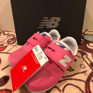 ニューバランス(New Balance)の15センチ  新品未使用 ニューバランス  スニーカー 子供靴 女の子 ピンク(スニーカー)