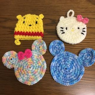 【Vivi様専用】エコたわし4枚+いちごのミニミニ巾着セット☆(キッチン小物)