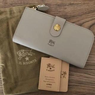 イルビゾンテ(IL BISONTE)のイルビゾンテ 長財布 折財布 トープグレー IL BISONTE(財布)