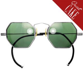 稀少レア美品 USA アンティーク オクタゴン 丸メガネ サングラス 661(サングラス/メガネ)