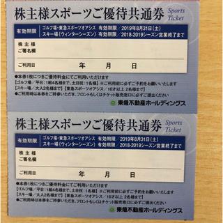 東急不動産スポーツ優待券 2枚(フィットネスクラブ)