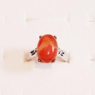 天然石 オレンジ 指輪(リング(指輪))
