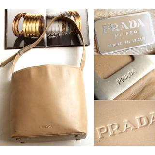プラダ(PRADA)のプラダ★ PRADA ロゴ◎本革ファスナー中仕切付トートバッグ(トートバッグ)