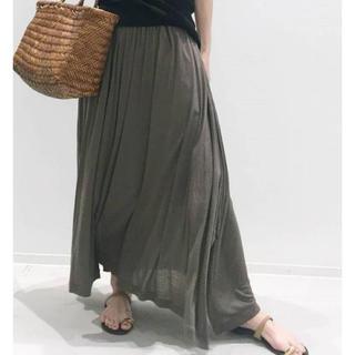 アパルトモンドゥーズィエムクラス(L'Appartement DEUXIEME CLASSE)のL'Appartement Jersey Gather Skirt カーキ 38(ロングスカート)