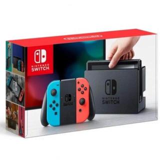 ニンテンドースイッチ(Nintendo Switch)の新品 Nintendo Switch 任天堂 ネオンブルー ネオンレッド(家庭用ゲーム本体)