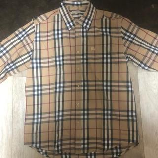 バーバリー(BURBERRY)のアンディーくん様専用 Burberryチェックshirt ホースシュー刺繍(シャツ)