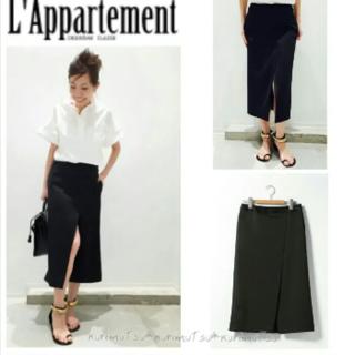 アパルトモンドゥーズィエムクラス(L'Appartement DEUXIEME CLASSE)のアパルトモン サイドスリットスカート(ひざ丈スカート)
