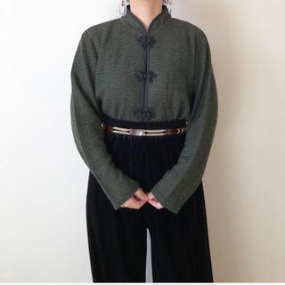 古着 チャイナ風トップス vintage  (カットソー(長袖/七分))
