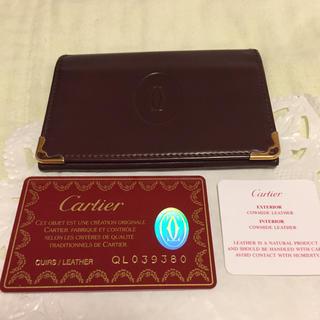 カルティエ(Cartier)の★美品!★ カルティエ ■ マストライン パスケース ■Gカード付(名刺入れ/定期入れ)