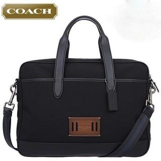 コーチ(COACH)の正規品保証 コーチ コーデュラレザー ビジネスバッグ 黒 新品 (ビジネスバッグ)