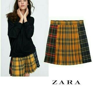 e12b17c195951 ザラ(ZARA)のM タグ付き チェック柄 ミニスカート スカート プリーツスカート 安室