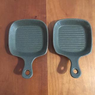 ハクサントウキ(白山陶器)のよしざわ窯 フライパン風 小皿(食器)