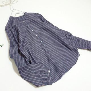 ムジルシリョウヒン(MUJI (無印良品))のMUJI *ストライプ コットンシャツ*(シャツ/ブラウス(長袖/七分))