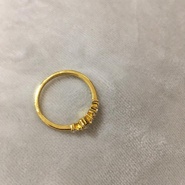 【大きいサイズ22号】きらきらゴールドリング レディースのアクセサリー(リング(指輪))の商品写真