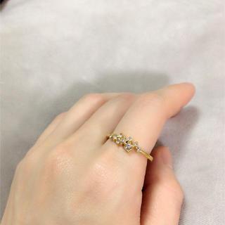 【大きいサイズ22号】きらきらゴールドリング(リング(指輪))