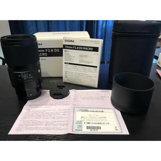 ソニー(SONY)のSIGMA Art70mm F2.8DG MACRO(ソニーE用フルサイズ対応)(レンズ(単焦点))