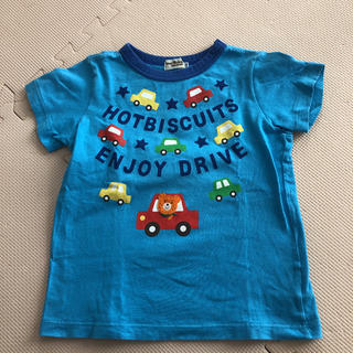 ホットビスケッツ(HOT BISCUITS)の ホットビスケッツ 半袖プッチーくん バックプリントあり 車 刺繍 100センチ(Tシャツ/カットソー)
