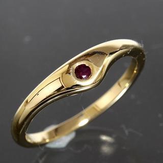 ティファニー(Tiffany & Co.)のティファニー TIFFANY&CO.ルビー デザイン リング 10号 K18YG(リング(指輪))