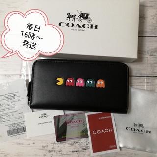 コーチ(COACH)のコーチ 長財布 新品 パックマン コラボ ブラック COACH  F55736(財布)