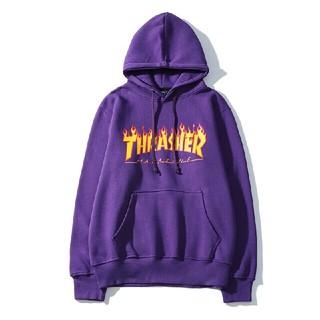 スラッシャー(THRASHER)のTHRASHERバーカー 男女兼用 着心地よい フード付き(パーカー)