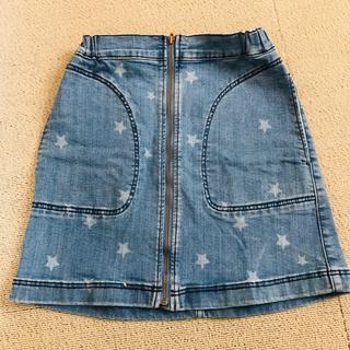 ジーユー(GU)のGU キッズ デニムスカート 140cm(スカート)