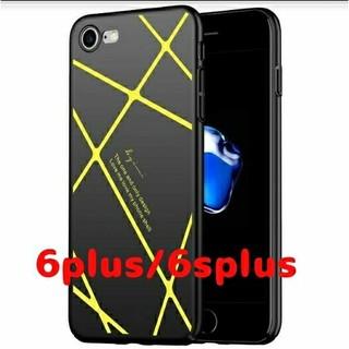 クロスデザインiPhoneケース6プラス【イエロー】(iPhoneケース)