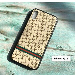 iPhoneXS ケース ベージュ  モノグラム柄  即購入OK!(iPhoneケース)