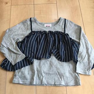 シマムラ(しまむら)の値下げ^_^しまむら☆重ね着風Tシャツ☆130センチ(Tシャツ/カットソー)