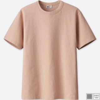 ユニクロ(UNIQLO)のUNIQLO クルーネックT  ピンク(Tシャツ(半袖/袖なし))
