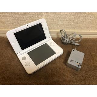 ニンテンドー3DS(ニンテンドー3DS)のNINTENDO 3DS LL 本体+充電器セット パールホワイト(携帯用ゲーム本体)