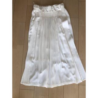 ヌメロヴェントゥーノ(N°21)のヌメロ N21 ロングスカート ホワイト 新品 タグ付き(ロングスカート)