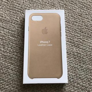 アップル(Apple)のiphone7 純正レザーケース(iPhoneケース)
