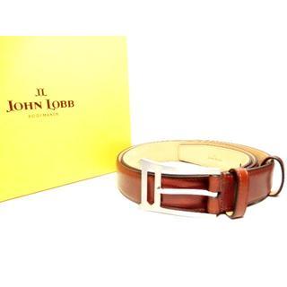 ジョンロブ(JOHN LOBB)の♂【新品◆世界最高峰】ジョンロブ ミュージアムカーフ ドレスベルト 100(ベルト)