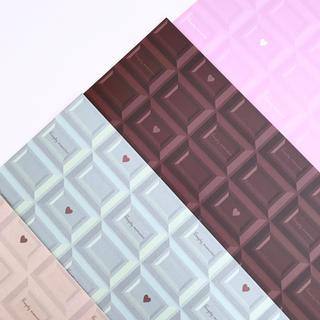 オリジナル デザインペーパー チョコレート 4色セット(ラッピング/包装)