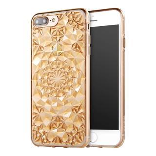 ゴールド iPhone7 iPhone8 ダイヤ カット ソフトケース(iPhoneケース)