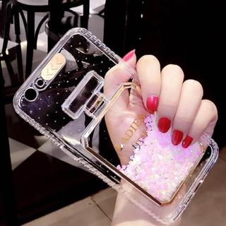 ♡香水 iPhone7/8ケース  ピンク キラキラ グリッターケース♡(iPhoneケース)