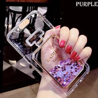 ♡香水 iPhone7/8ケース  パープル キラキラ グリッターケース♡(iPhoneケース)